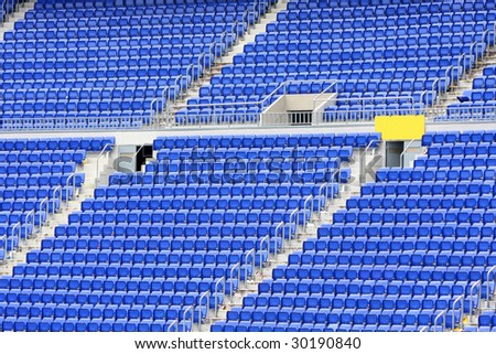 details of empty seats in stadium