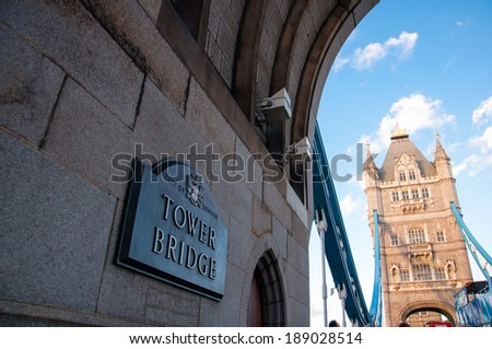 details of london tower bridge - stock photo