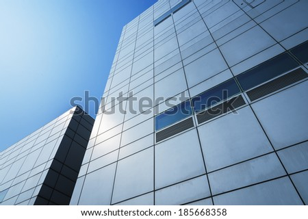 Details of modern office building