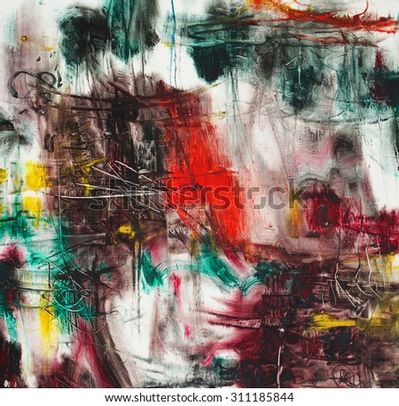 Details of nature with a red center, abstract oil painting artistic background