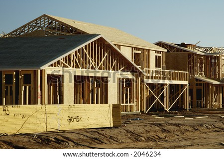 Details of new home construction in a new residential development in Arizona.