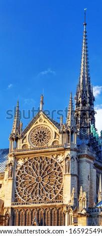 Details of Notre Dame de Paris Cathedral.France  - stock photo