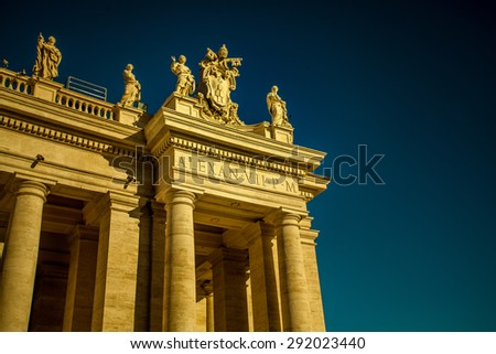 Details of Piazza San Pietro, Vatican City - stock photo