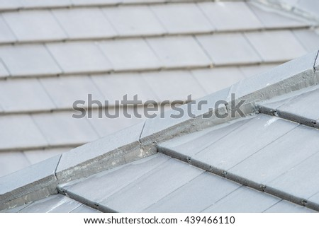 details of roof tiles