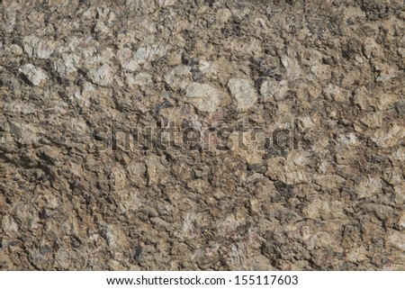Details of stone texture with brown tint