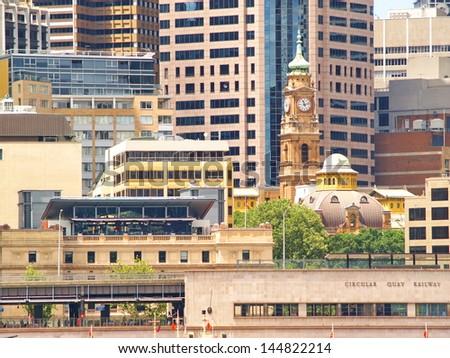 Details of Sydney CBD - stock photo