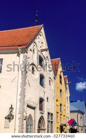 Details of the architecture of Tallinn - Estonia - stock photo