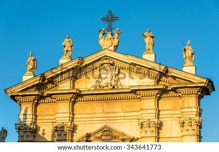 Details of the Cathedral of Mantua - Italy