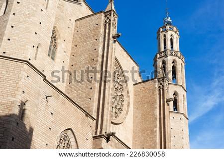 Details of the church of Santa Maria del Mar in Barcelona - stock photo