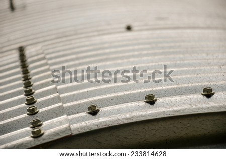 Details of the structure of a grain silo on a farm in San Ramon, Canelones, Uruguay - stock photo