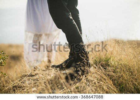 Details of the wedding photography. Bride and groom - stock photo
