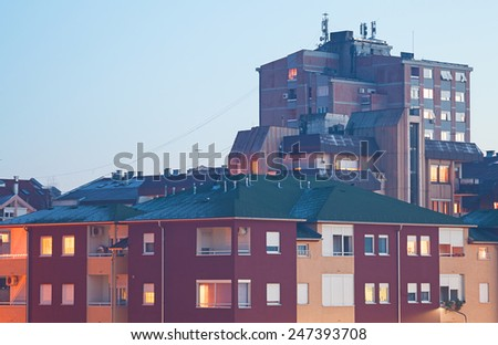 Details of town from East Europe, Serbian classical architecture.  - stock photo