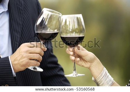 Details of two glasses of wine