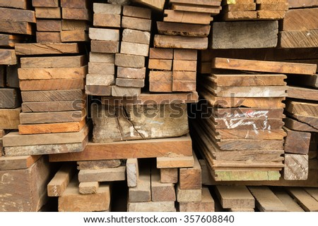 Details of wooden boards - stock photo