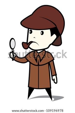 detective man - stock photo
