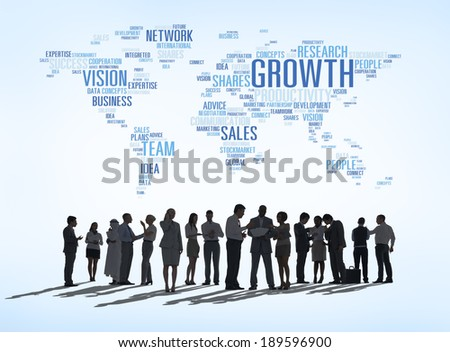 Determination of Business People - stock photo