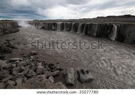 Detifoss waterfall, Iceland - stock photo