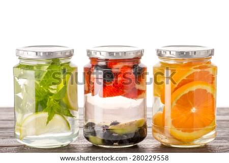 detox water - stock photo