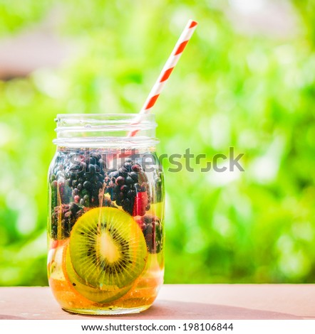 Detox water cocktail - stock photo