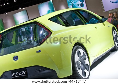 DETROIT - JANUARY 17:  Concept cars from the North American International Auto Show on January 17, 2010 in Detroit, Michigan. - stock photo