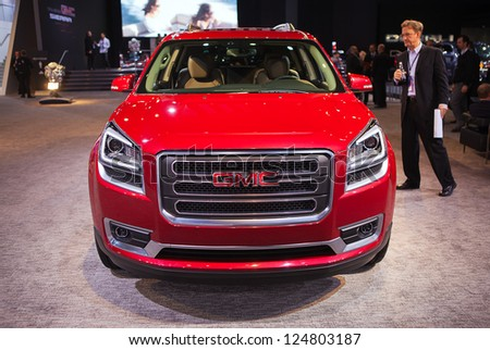 DETROIT - JANUARY 14 : The 2014 GMC Denali at The North American International Auto Show  January 14, 2013 in Detroit, Michigan.