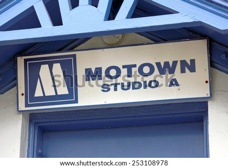 DETROIT - JULY 31: The first Motown headquarters located in Detroit, Michigan on July 31, 2014. Motown is an American record label primarily associated with African-American pop, soul and R&B music. - stock photo