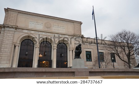 DETROIT, MI - DECEMBER 20:  The Detroit Institute of Arts, shown on December 20, 2014, is hosting an exhibit on Diego Rivera and Frida Kahlo.