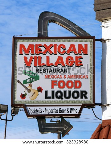 DETROIT, MI-OCTOBER, 2015:  The Mexican Village restaurant has been serving authentic home style Mexican cooking for over 50 years.