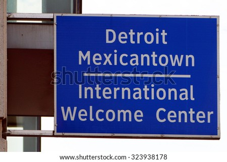 DETROIT, MI-OCTOBER, 2015:  Welcome Center for recent Mexican and other Latino immigrants for the City of Detroit.