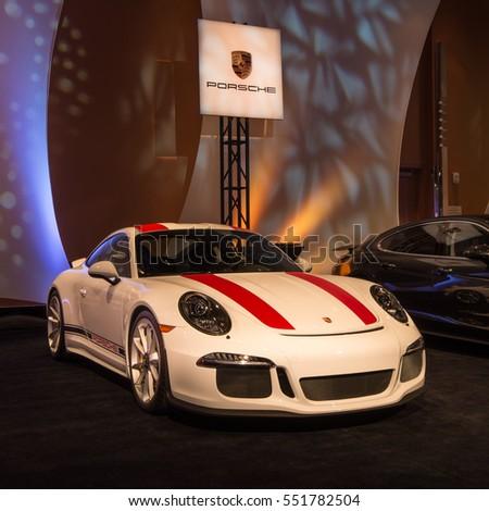 detroit miusa january 8 2017 a porsche 911 r car