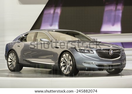 DETROIT, MI, USA - JANUARY 13, 2015: Buick Avenir concept on display during the 2015 Detroit International Auto Show at the COBO Center in downtown Detroit.