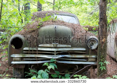 DETROIT, MICHIGAN - May 11, 2015: The Plymouth automobile was introduced at Madison Square Garden on July 7, 1928 - stock photo