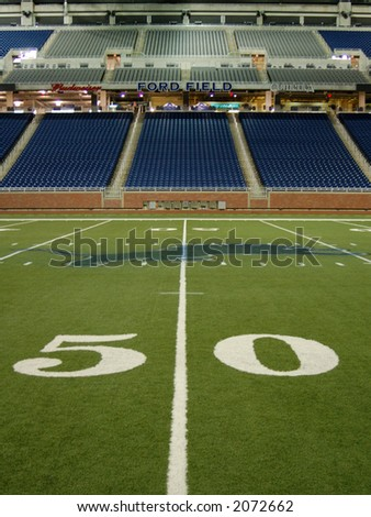 Detroit's Ford Field. Home of Super Bowl XL in 2006. - stock photo