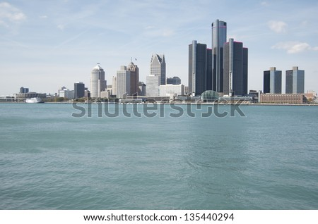 Detroit Skyline 2012 - stock photo