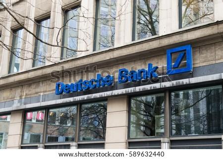 Deutsche Bank Brussels Belgium 2017 Stock Photo Edit Now 589632440