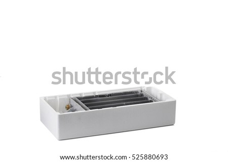 Device for cooling liquid. Isolated on the white background.
