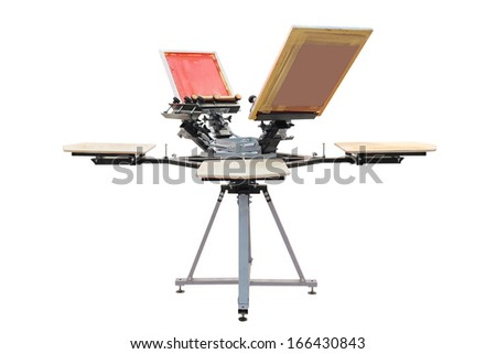 Device for printing on fabric isolated under the white background
