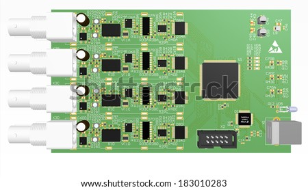 Device PCB 3 D Design Wiring Schemeprinted Stock Illustration ...