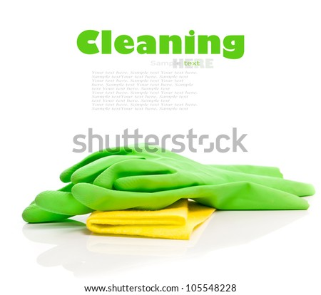 Devices for cleaning on a white background