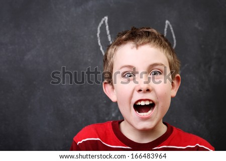 Devil Boy - stock photo