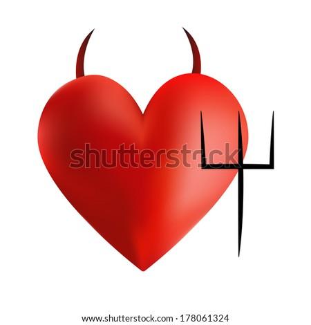 Devil Heart - stock photo