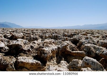 Devil's Golf Course, Death Valley - stock photo