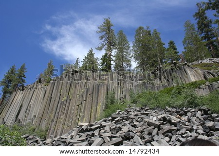 Devil's Postpile National Monument - stock photo