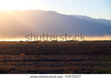 Devils Golf Course, Death Valley National Park  California, USA. - stock photo