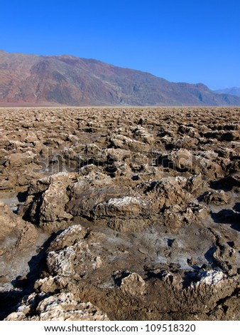 Devils Golf Course in Death Valley National Park California - stock photo