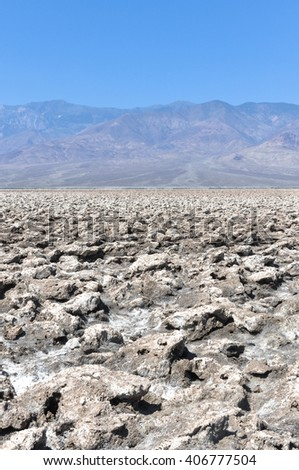 Devils Golf Course in Death Valley National Park, California  - stock photo
