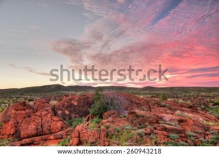 Devils Marbles, Australia - stock photo