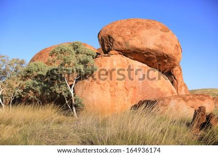 Devils Marbles , Northern Territory Australia - stock photo