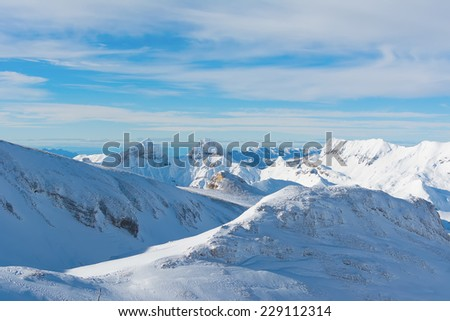 Devoluy mountains, part of the Dauphine Prealps, France - stock photo