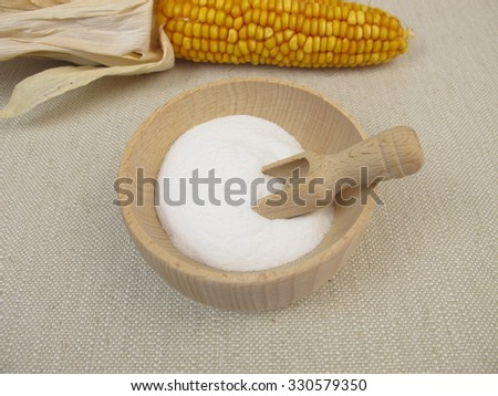 Dextrose from maize starch - stock photo